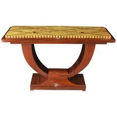 Art Deco Style Ogee Rosewood Console Table Hall