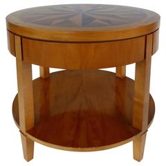 Mid-20th Century Baker Inlaid Compass Rose Side Table
