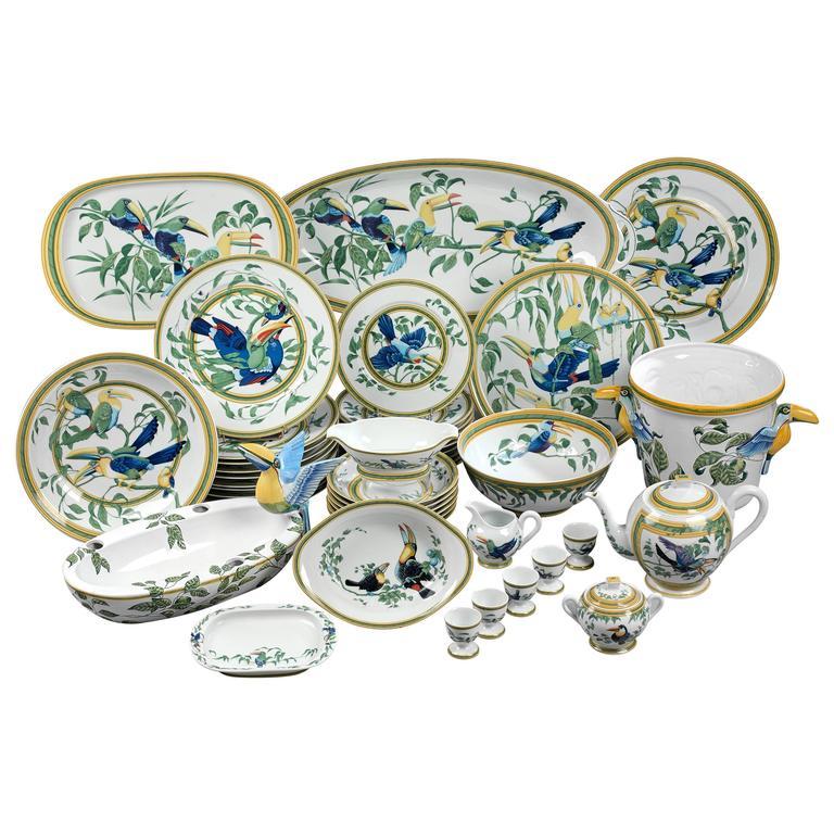 Hermes  Toucan  Porcelain Dinnerware Service ...  sc 1 st  1stDibs & Hermes