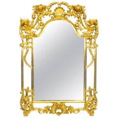 Luis Revival Carved Giltwood Mirror