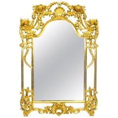 Beautiful Decorative Luis Revival Carved Giltwood Mirror