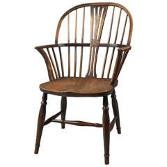Fine Graphic Windsor Bow Back Armchair