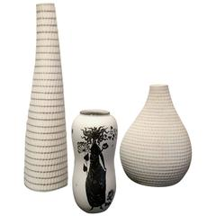 Stig Lindberg for Gustavsberg Set of Three Vases