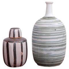 Set of Two Studio Art Pottery by Ahlstrom, California, 1960s