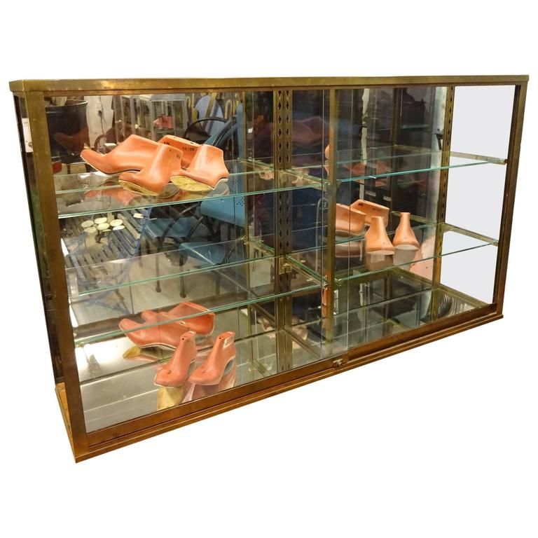 Early 20th Century Glass Display Cabinet Vitrine
