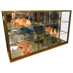 Early 20th Century Glass Display Cabinet Vitrine