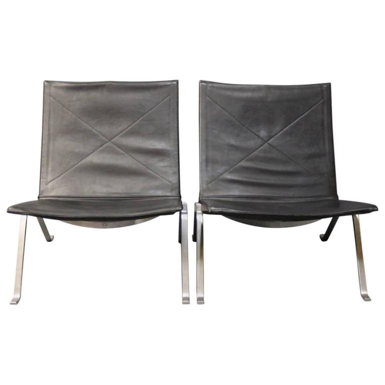 Pair Of PK22 Chairs By Poul Kj Rholm And Fritz Hansen 1989 For Sale At 1stdibs