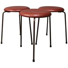 Three Dot Stools, Model 3107 by Arne Jacobsen and Fritz Hansen, 1960s