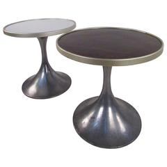 Pair of German Modern Tulip Pedestal Side Tables by HW Metallbau