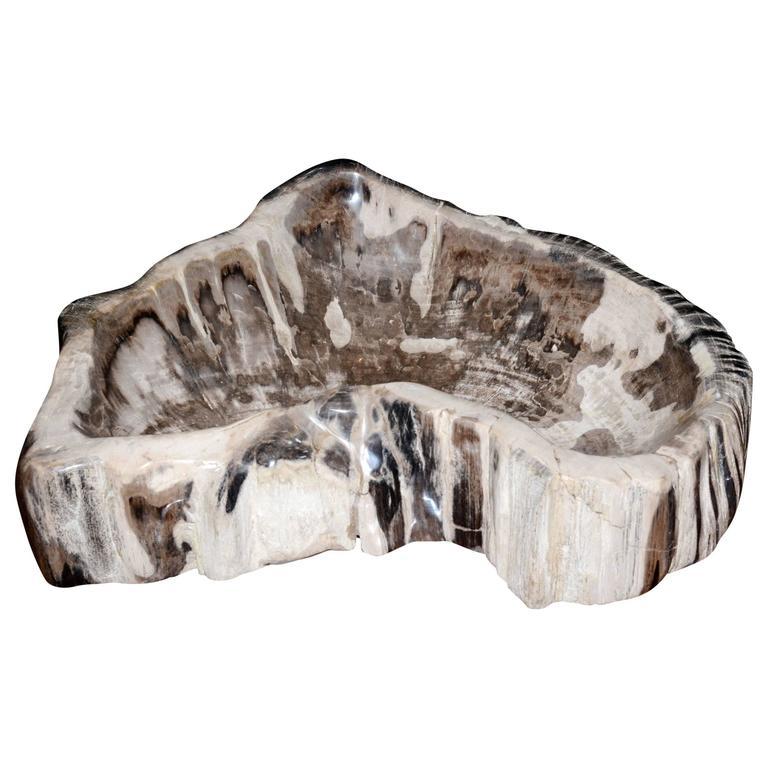 Ashtray in Petrified Wood Large