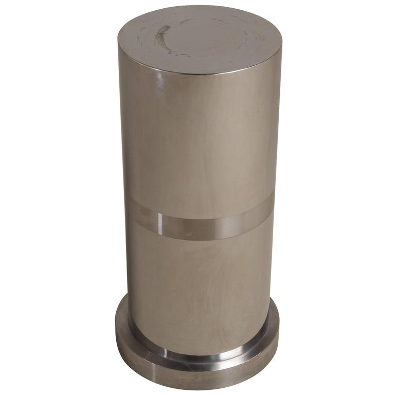 Laminated Metal Cylindrical Pedestal, 1970s