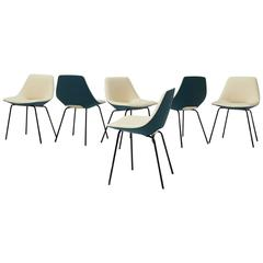 Pierre Guariche Tonneau Dining Chairs