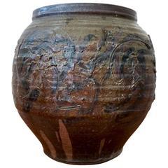 Abstract Expressionist Ceramic Vessel by California Ceramicist Pete Scott
