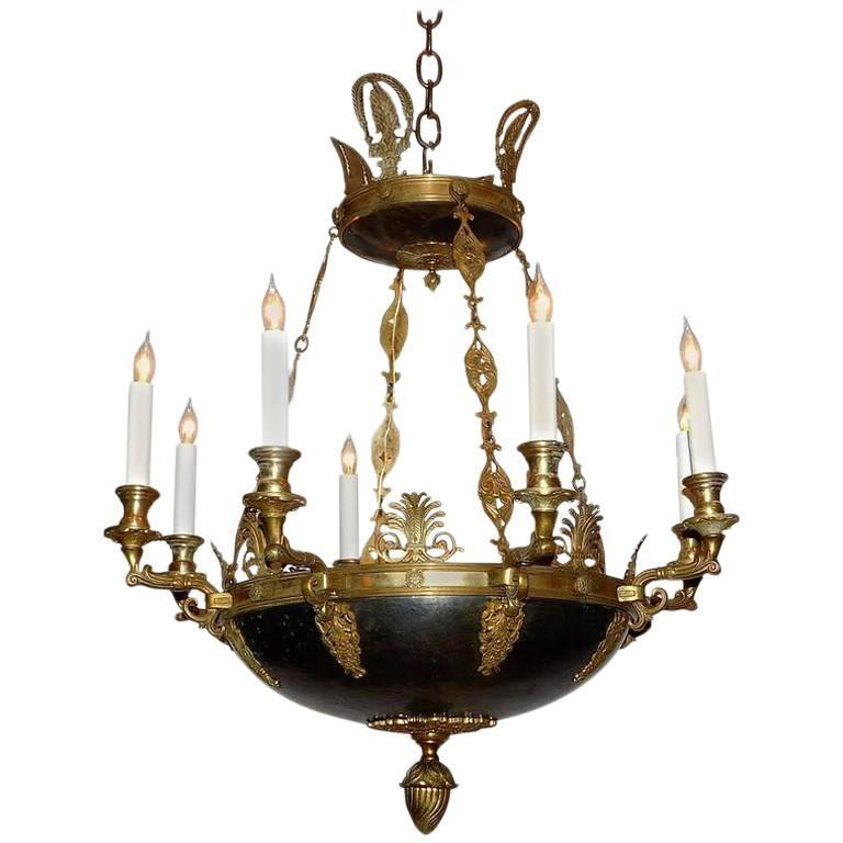 Eight light empire style chandelier circa 1900 denmark for sale at 1stdibs - Circa lighting chandeliers ...