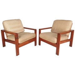 Mid-Century Modern Teak Lounge Chairs