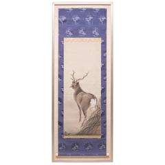 19th Century Chinese Deer Scroll