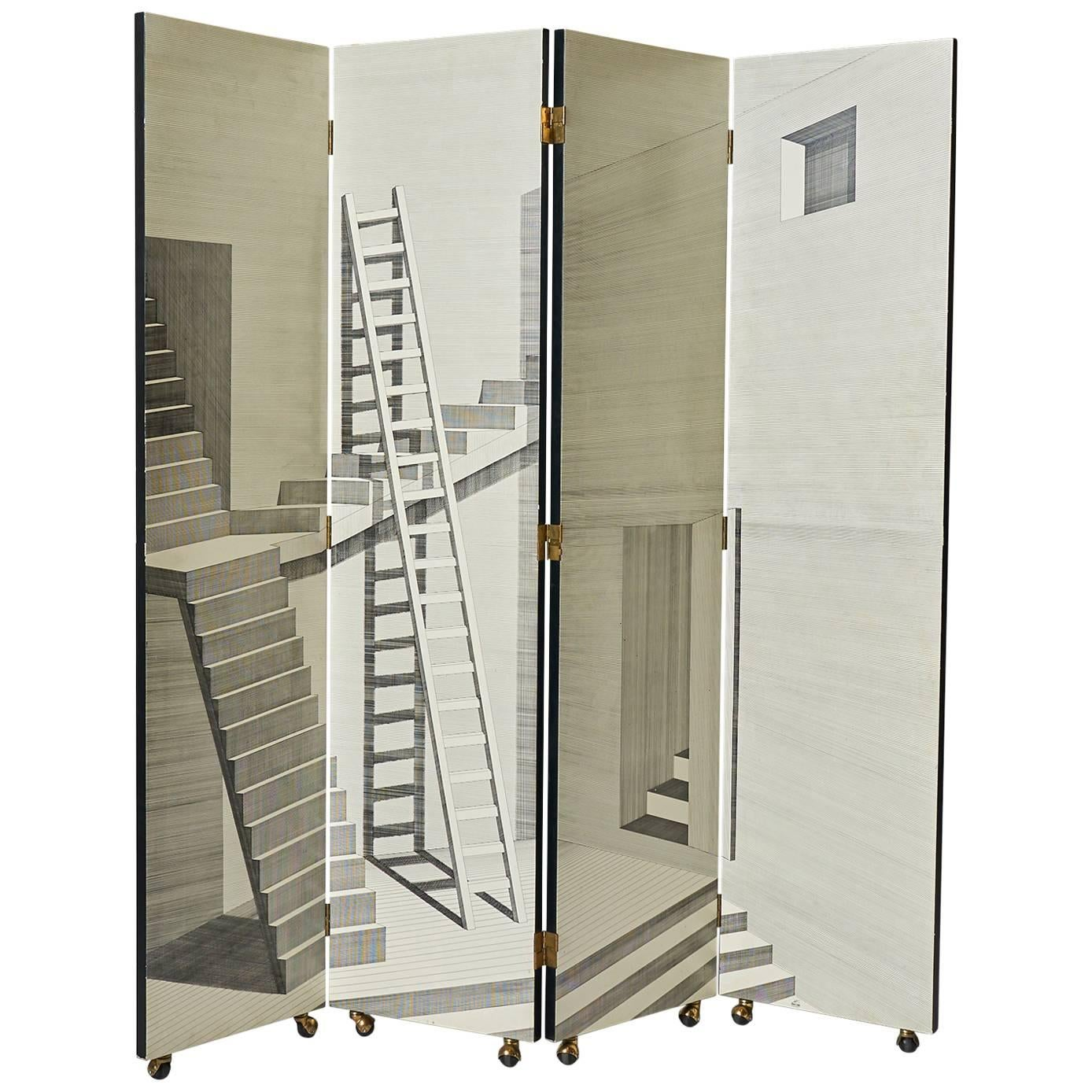 """Scaletta"" Folding Screen by Piero Fornasetti"