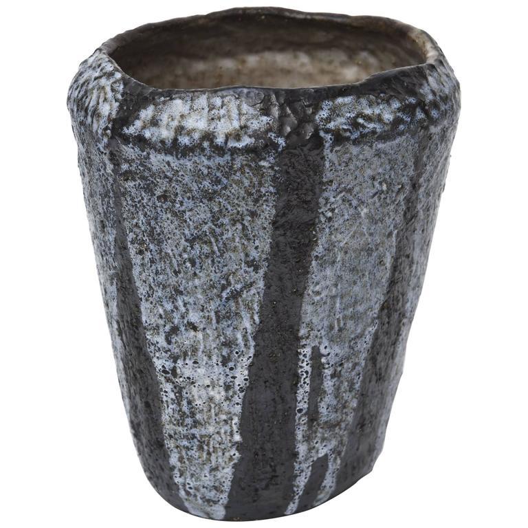 Mid-Century Studio Ceramic Glazed Vase or Vessel