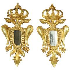 Pair of European Giltwood Mirrors