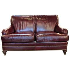 Cordivan Leather Small Sofa by Hancock and Moore