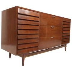 Mid-Century Modern Walnut Dresser by American of Martinsville