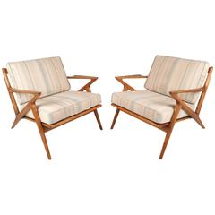 """Mid-Century Modern Poul Jensen for Selig """"Z"""" Lounge Chairs"""