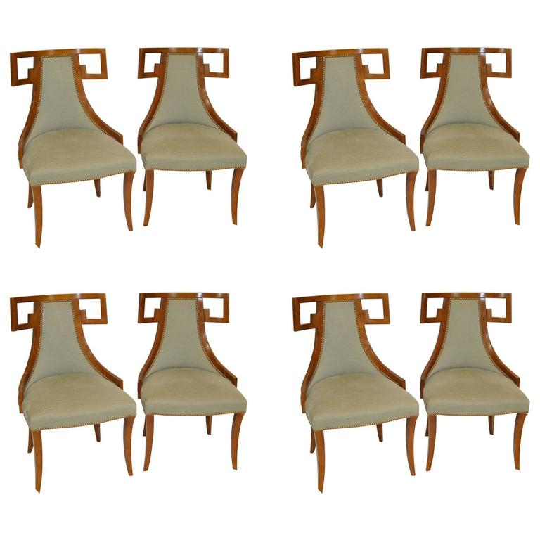 Set Of Eight Thomas Peasant Greek Dining Chairs By Baker Furniture For