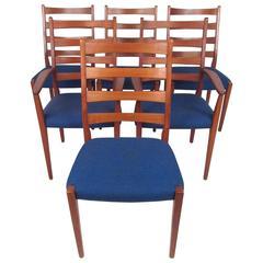 Scandinavian Modern High Back Teak Dining Chairs by Moreddi
