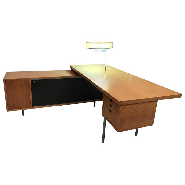 George Nelson For Herman Miller Executive Desk With Lamp