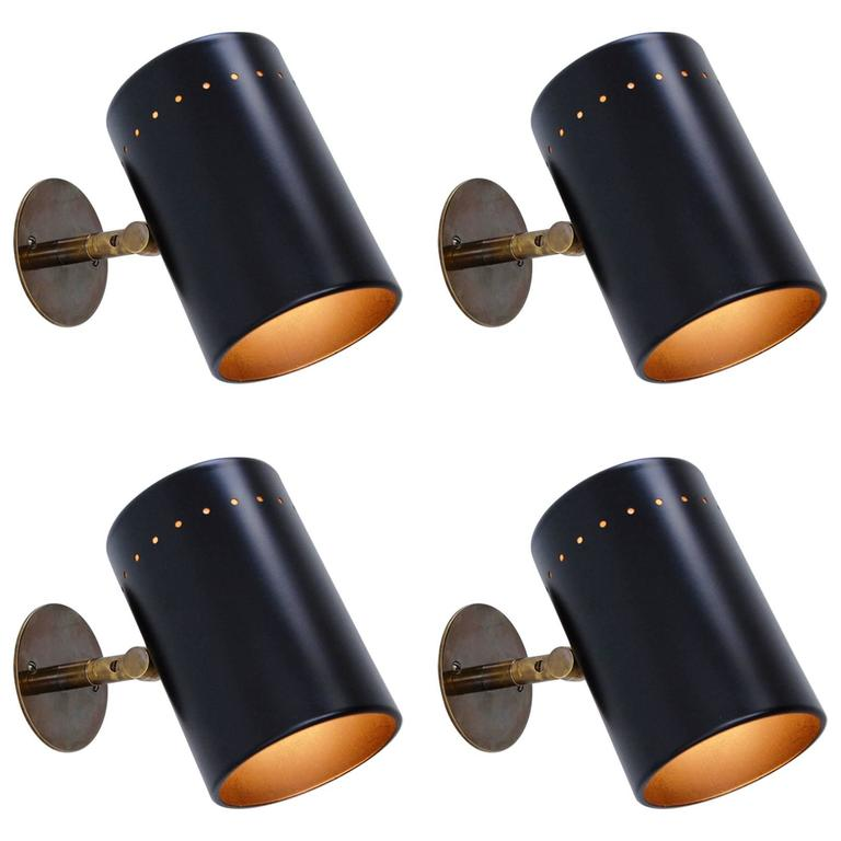 Black Lightolier Sconces
