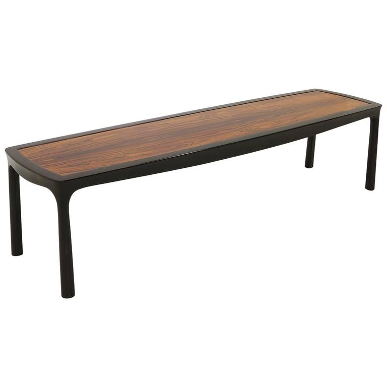 Sculptured Edge Rectangular Coffee Table by Edward Wormley for Dunbar