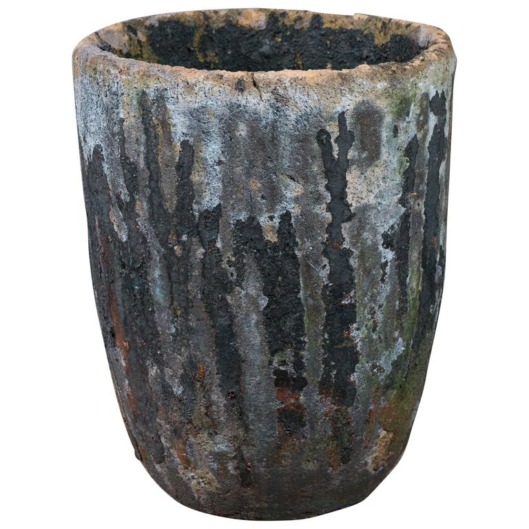 Large Vintage Belgian Foundry Crucible, circa 1930 For Sale