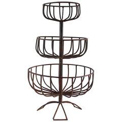 Three-Tiered Iron Fruit Basket