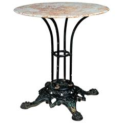 Antique French Iron Bistro Table