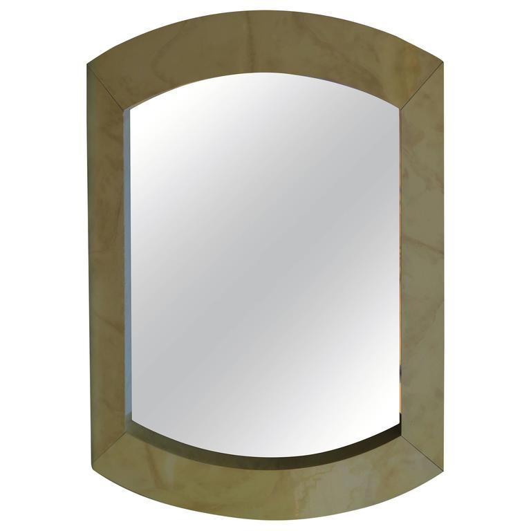 Large-Scale Goatskin Karl Springer Style Mirror