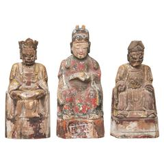 18th Century Hand-Carved Chinese Emperors