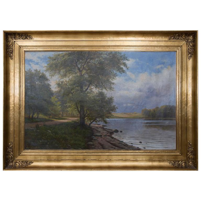 European Landscape Painting Oil on Canvas