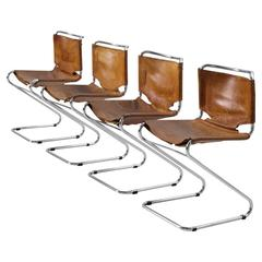 Of four chairs in oak and patinated cognac leather for sale at 1stdibs - Kai Kristiansen Set Of Six Rosewood Dining Chairs For Sale