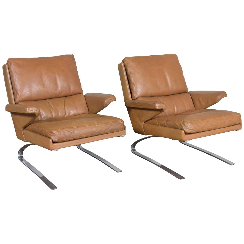 COR Swing Lounge Chairs In Cognac By Reinhold Adolf And Hans Jürgen  Schröpfer. U0027