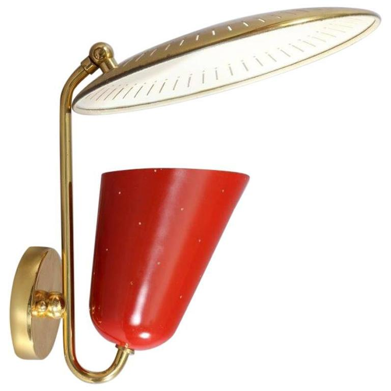 Charming Italian Wall Lamp Attributed Arredoluce, Italy For Sale