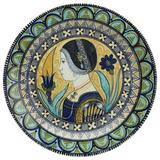Renaissance Revival Maiolica Painted Plate, 1881