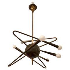 Stilnovo 1950s Orbital Italian Pendant Chandelier