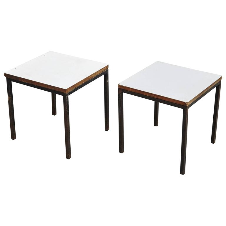 Pair of Florence Knoll T-Angle Side Tables, circa 1950 1