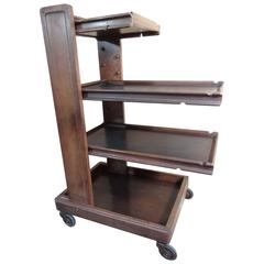 Rare Arts & Craft Compactable Serving Trolley with Removable Trays 'Labeled'