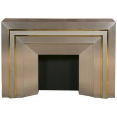 Decorative Metal and Brass Fire Mantel