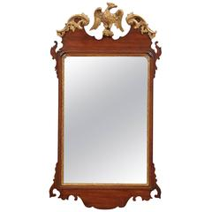 English Chippendale Mirror in Mahogany with Eagle Crest, circa 1750