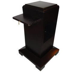 Art Deco Ebonized Pedestal