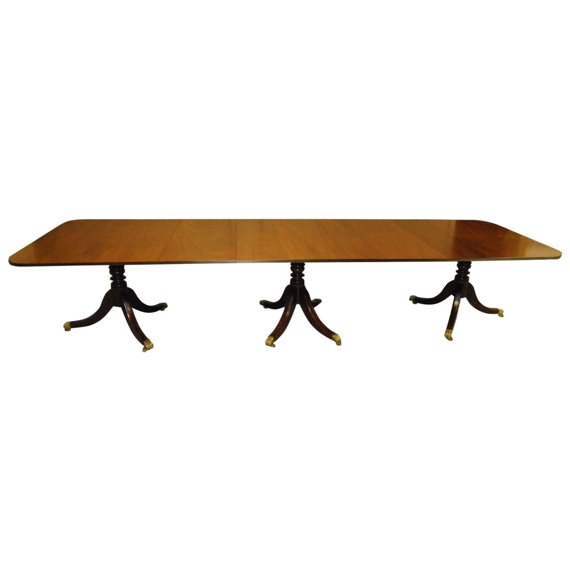 18th Century Style Mahogany Conference Table by Kittinger - 12 feet