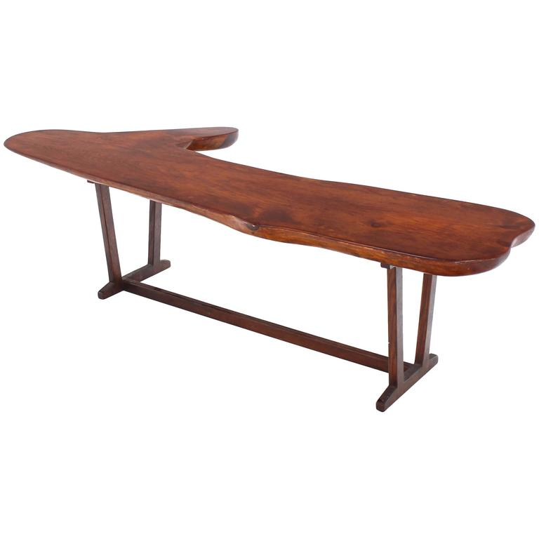 Organic Solid Top Coffee Table or Bench For Sale
