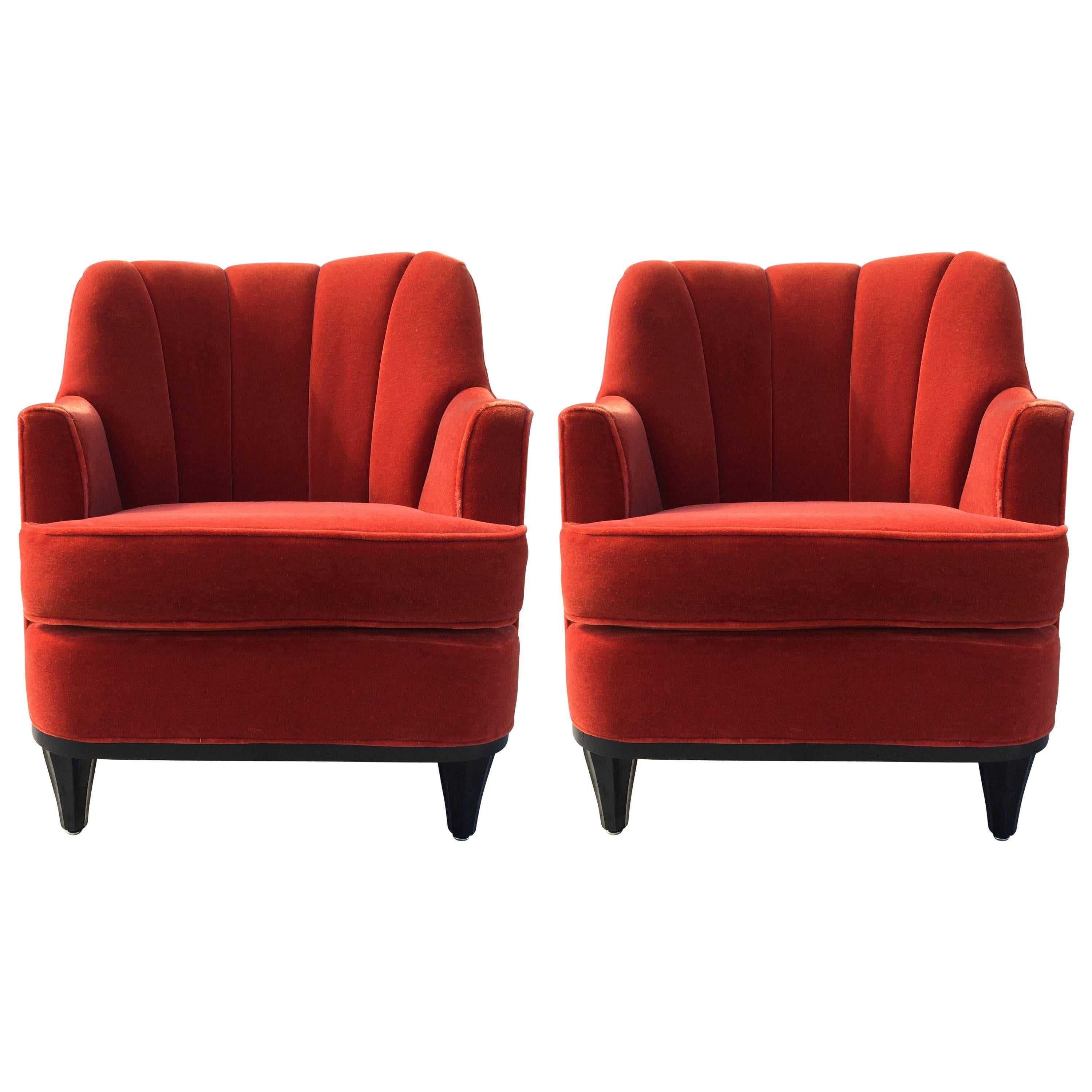 Pair of Lounge Chairs in the Style of Gio Ponti